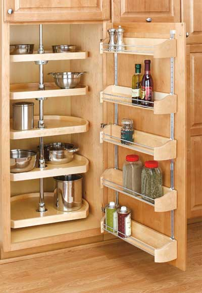 Pantry Lazy Susan and Door Rack