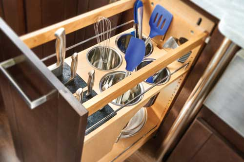 Pullout Knife/Utensil Base Organizer