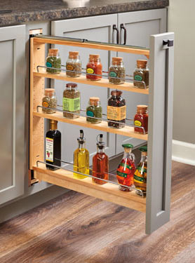 Narrow Pullout Spice Rack