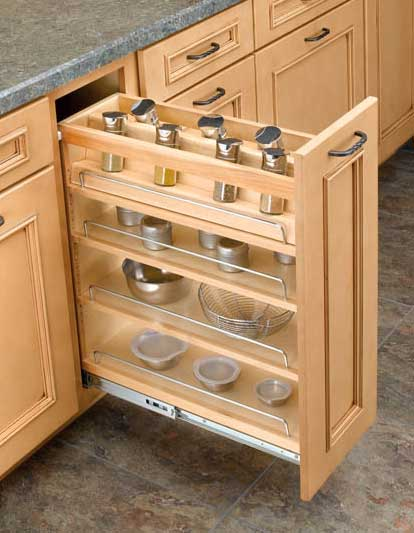 Wide Pullout Spice Rack